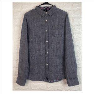 Oakley Regular Fit Button Up Plaid Shirt